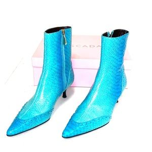 Escada Turquoise Over the Ankle Boots